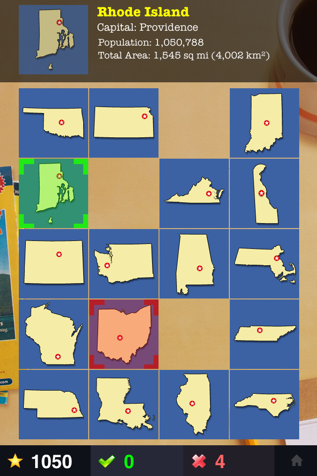 Screenshot The 50 States
